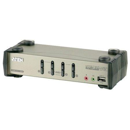 ATEN KVM Switch USB VGA + Audio, 4 port - CS1734B