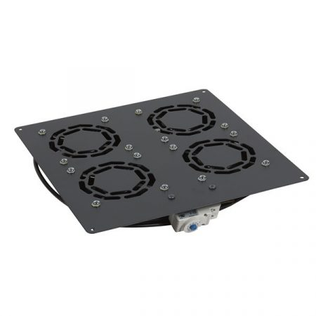 """Legrand Rackszekrény ventilátor 19"""" -  4 ventilátor, termosztát, 320m2 /óra, Fekete (Linkeo álló rack szekrényekhez)"""