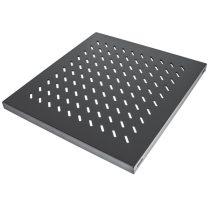 """Manhattan Rackszekrény polc - 712538 (19"""", 1U, fix, 525 mm mély, fekete)"""