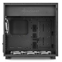 Sharkoon Számítógépház - PureSteel RGB (fekete; ablakos; ATX, felső táp; 4x120mm RGB ventilátor; 2xUSB3.0; I/O)