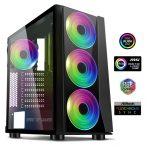 Spirit of Gamer Számítógépház - GHOST III (fekete, ablakos, 8x12cm ventilátor, ATX, mATX, 2xUSB3.0, 1xUSB2.0)