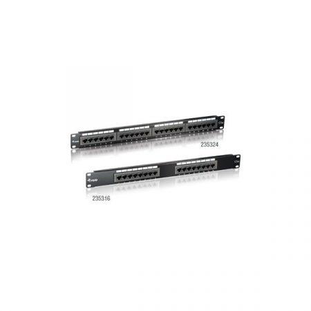 Equip Patch panel - 235324 (24 port, Cat5e, 1U, fekete)