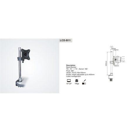 """SUNNE (LCD-B11) Monitor asztali konzol, dönthető, forgatható, 13-27"""""""