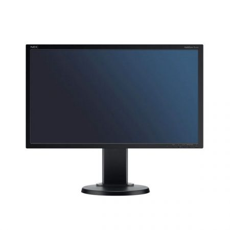 "NEC Monitor 22"" - MultiSync E223W Fekete (TN; 16:10; 1680x1050; 5ms; 250cd; Dsub, DVI, DP, pivot)"