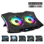 "Spirit of Gamer Notebook Hűtőpad 17""-ig - AIRBLADE 1000 RGB (18dB; max. 79 m3/h; 2x11,5cm, RGB LED, 2xUSB2.0)"