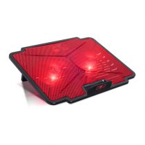 "Spirit of Gamer Notebook Hűtőpad 15,6""-ig - AIRBLADE 100 Red (25dB; max. 125,72 m3/h; 2x12cm, LED, 2xUSB2.0)"