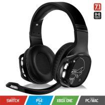 Spirit of Gamer Wireless Fejhallgató - MIC-XH1100 (MultiPlatform,7.1,mikrofon, hangerőszabályzó, nagy-párnás, fekete)