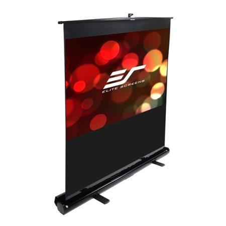 """EliteScreens 120"""" (16:9) hordozható manuális pull up vászon F120NWH (267 x 150 cm, Fekete váz)"""