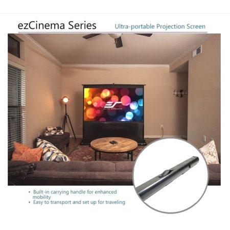 """EliteScreens 60"""" (4:3) hordozható manuális pull up vászon F60NWV (122 x 91 cm, Fekete váz)"""