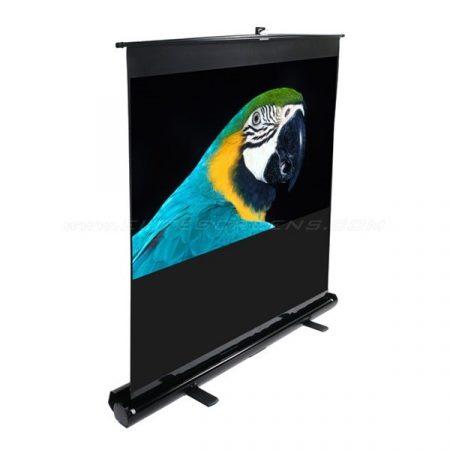 """EliteScreens 80"""" (16:9) hordozható manuális pull up vászon F80NWH (178 x 100 cm, Fekete váz)"""