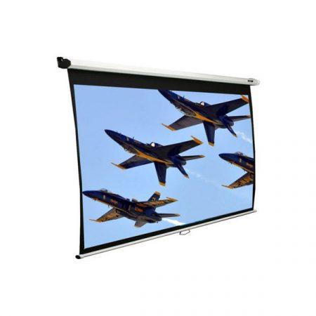 """EliteScreens 106"""" (16:9) manuális fali vászon M106XWH (235 x 132 cm, Fehér váz)"""