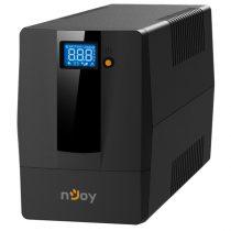 NJOY Szünetmentes  600VA - Horus Plus 600 (2 Schuko, line-interaktív, RJ11 védelem, USB, szoftver, LCD kijelző, fekete)