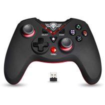 Spirit of Gamer Gamepad Vezeték Nélküli - XGP WIRELESS Red (USB, Vibration, PC és PS3 kompatibilis, fekete-piros)