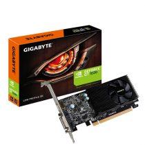 Gigabyte Videókártya - nVidia GT1030 (2048MB DDR5, 64bit, 1506/6008MHz, DVI, HDMI, Ventillátor)