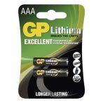 GP B15112 FR03 2 db/bliszter AAA lítium elem