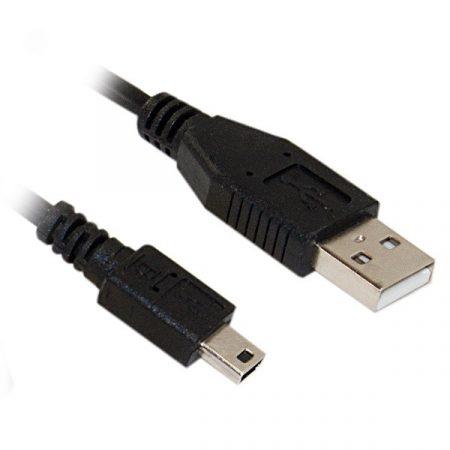 ROLINE Kábel USB 2.0 A - Mini USB (5pin),   1,8m