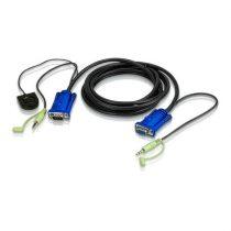 ATEN VanCryst Kábel Portváltó VGA + audio,   1,8m - 2L-5202B
