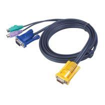 ATEN KVM Kábel PS/2 és VGA,   1,8m
