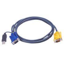 ATEN KVM Kábel USB és VGA,   3m