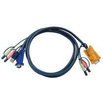 ATEN KVM Kábel USB és VGA,   5m