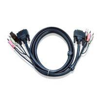 ATEN KVM Kábel USB és DVI Dual Link,   1,8m - 2L-7D02UD