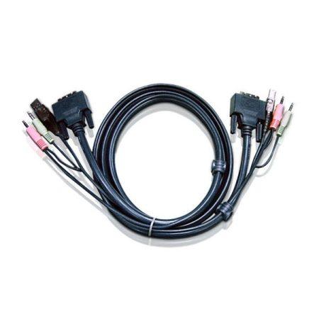 ATEN KVM Kábel USB és DVI-I,   3m - 2L-7D03UI