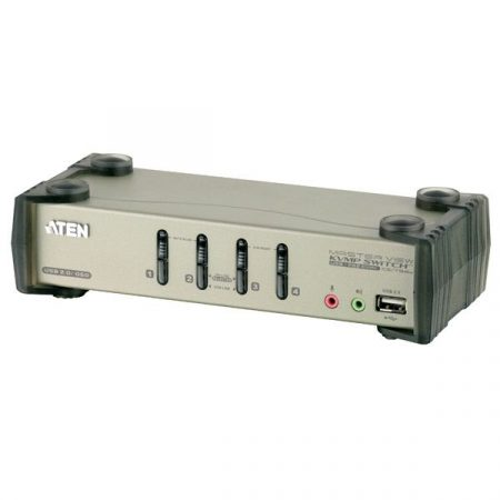 ATEN KVM Switch USB VGA + Audio, 4 port - CS1734B