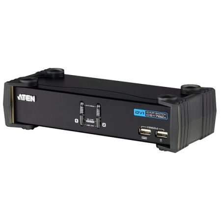 ATEN KVM Switch USB DVI + Audio, 2 port - CS1762A