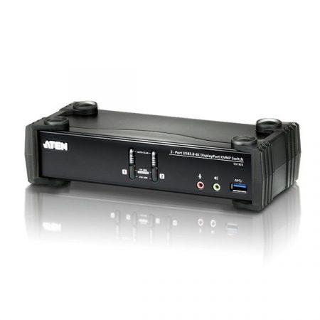 ATEN KVM Switch USB DisplayPort 4K + Audio, 2 port - CS1922