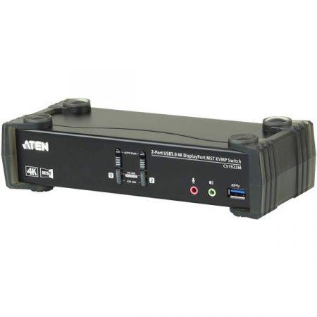ATEN KVM Switch USB DisplayPort 4K + Audio, 2 port - CS1922M