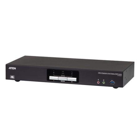 ATEN KVMP Switch USB 3.0, 4K DisplayPort, Dual Display, 2 port