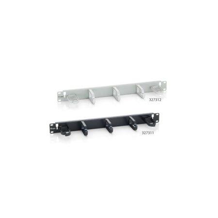 """Equip Rack Kiegészítő - 327311 (Kábel rendező panel, Gyűrű panel, 1U(19""""), fekete)"""