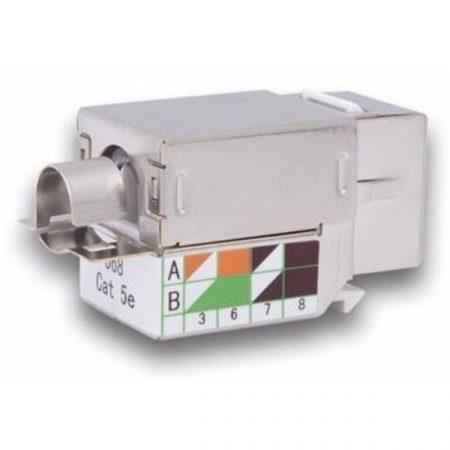 Legrand keystone - Cat5e, STP, Connect 110 betűzős bekötésű, 180°, 1Gigabit (Linkeo patch panelekhez)