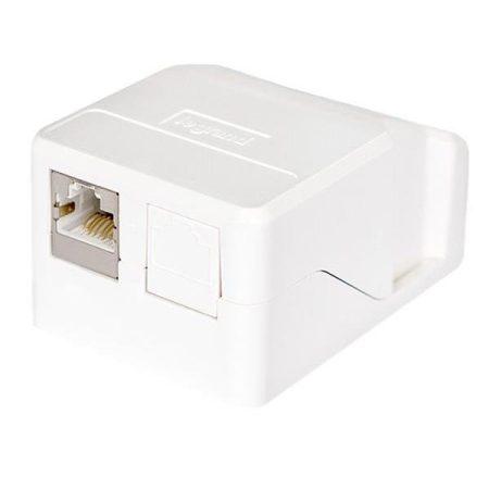 Legrand keystone doboz - 2 x RJ45 port fogadására alkalmas, portok nélkül, fehér