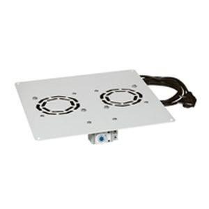"""Legrand Rackszekrény ventilátor 19"""" -  2 ventilátor, termosztát, 160m2 /óra, Fekete (Linkeo álló rack szekrényekhez)"""