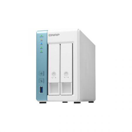 QNAP NAS - TS-231P3-4G (2HDD hely, Alpine QC AL-314 1.7GHz, 4GB RAM, SATA, 2x RJ-45, 3x USB3.0)