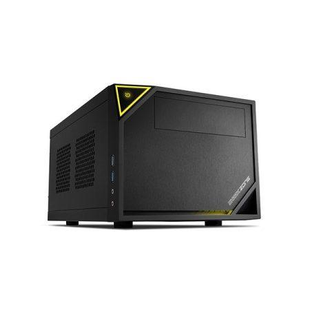 Sharkoon Számítógépház - Shark Zone C10 (fekete; fekete belső; mITX; 2xUSB3.0; 2xUSB2.0; I/O; 120mm ventilátor)