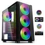 Spirit of Gamer Számítógépház - GHOST III RGB (fekete, ablakos, 8x12cm ventilátor, ATX, mATX, 2xUSB3.0, 1xUSB2.0)