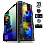 Spirit of Gamer Számítógépház - GHOST 5 RGB (fekete, ablakos, 2x20cm, 4x12cm ventilátor, ATX, mATX, 2xUSB3.0, 1xUSB2.0)