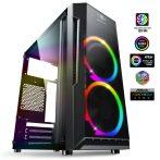 Spirit of Gamer Számítógépház - Deathmatch 3 RGB (fekete, ablakos, 2x12cm, ventilátor mATX, ITX, 1xUSB3.0, 2xUSB2.0)
