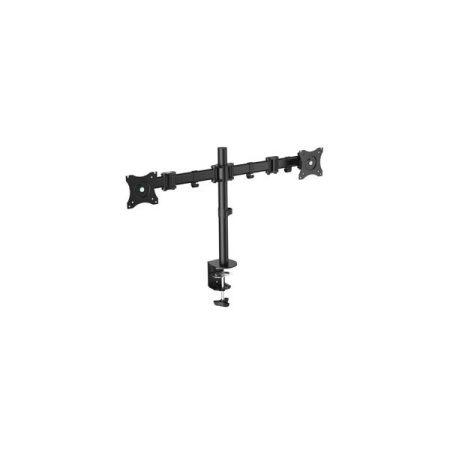 """Equip Monitor Asztali konzol - 650115 (13""""-27"""", 2 monitor, forgatható, dönthető, állítható magasság, Max.: 8kg, fekete)"""
