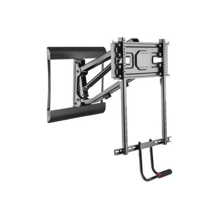 """Equip TV Fali konzol - 650326 (43""""-70"""", Max.: 35kg, dönthető, forgatható, állítható magasság, fekete)"""