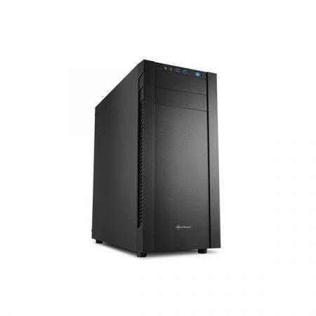 Sharkoon Számítógépház - S25-V (fekete; alsó táp; ATX,mATX; mITX; 2xUSB3.0; I/O)