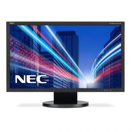 "NEC Monitor 24"" - AccuSync AS242W Fekete (TN; 16:9; 1920x1080; 5ms; 250cd; Dsub, DVI-D)"
