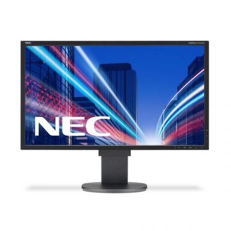 "NEC Monitor 21,5"" - MultiSync E224Wi Fekete (IPS; 16:9; 1920x1080; 6ms; 250cd; Dsub, DVI, DP, pivot)"