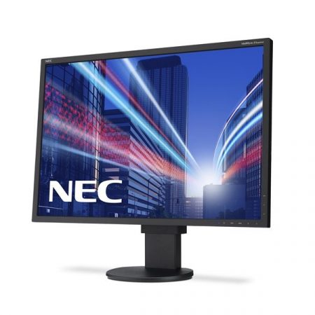 "NEC Monitor 22"" - MultiSync EA223WM Fekete (TN; 16:10; 1680x1050; 5ms; 250cd; Dsub, DVI, DP, spkr., pivot)"