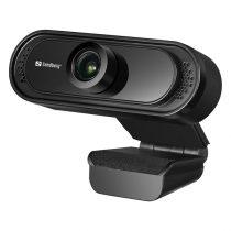 Sandberg Webkamera - USB Webcam 1080P Saver (1920x1080, 30 FPS, USB 2.0, univerzális csipesz, mikrofon, 1,2m kábel)