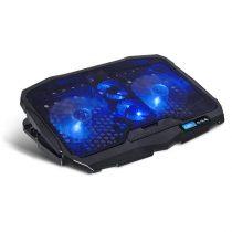 "Spirit of Gamer Notebook Hűtőpad 17""-ig - AIRBLADE 600 Blue (15dB; max. 95,14 m3/h; 2x12cm, LED, 2xUSB2.0)"