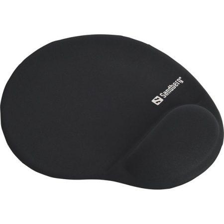 Sandberg Egérpad - Gel Mousepad with Wrist Rest (zselés csuklótámasszal; fekete)