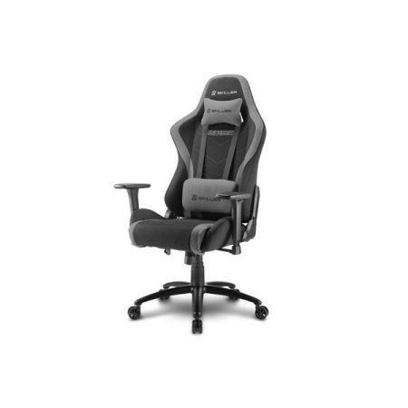 Sharkoon Gamer szék - Skiller SGS2 Black/Grey (állítható magasság; állítható kartámasz; szövet; acél talp; 110kg-ig)